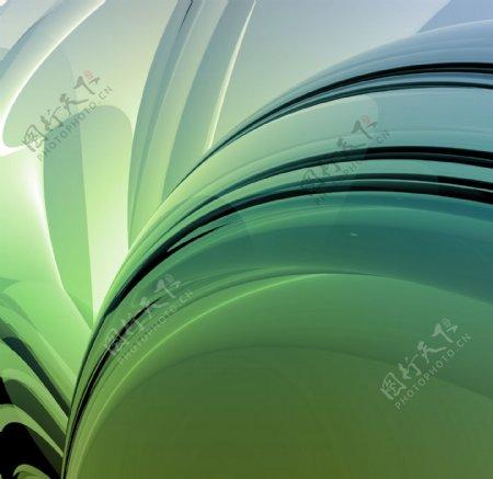 绿色动感背景