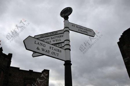 英国街头指示牌图片
