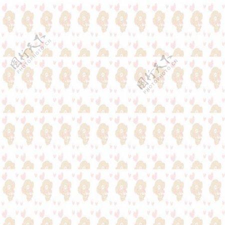 淡粉色花纹