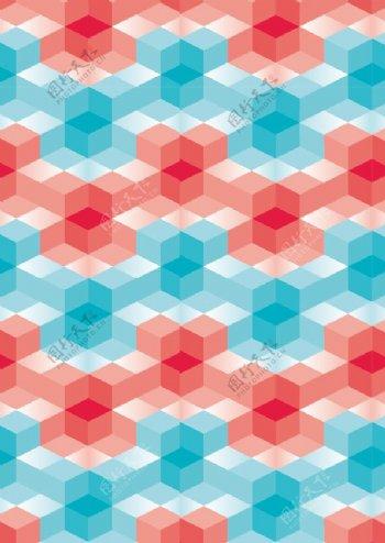 正立方体立体花纹图案