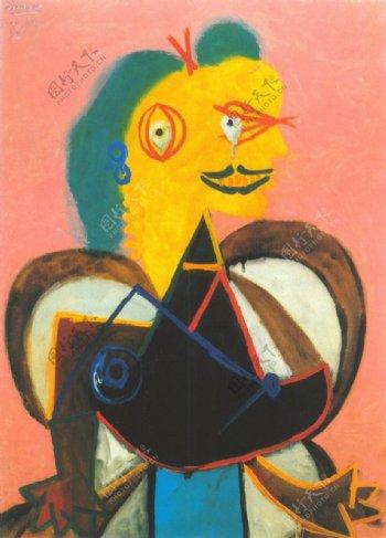 1937PortraitdeLeeMiller西班牙画家巴勃罗毕加索抽象油画人物人体油画装饰画