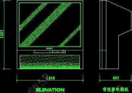电视机图块视听设备图块影院音响组合图块电脑CAD图块16