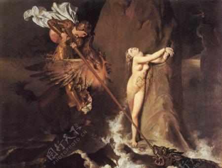安格尔女人体油画