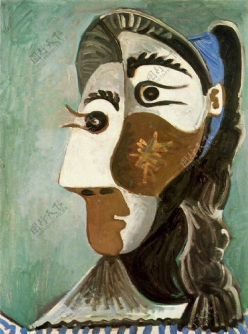 1962T鍧眅defemme6西班牙画家巴勃罗毕加索抽象油画人物人体油画装饰画