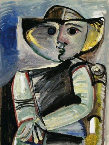 1971PersonnageFemmeassise西班牙画家巴勃罗毕加索抽象油画人物人体油画装饰画