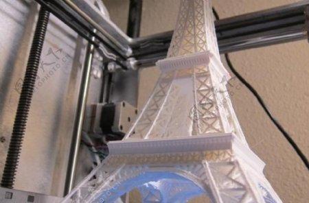 埃菲尔铁塔缩放3X印在Ultimaker