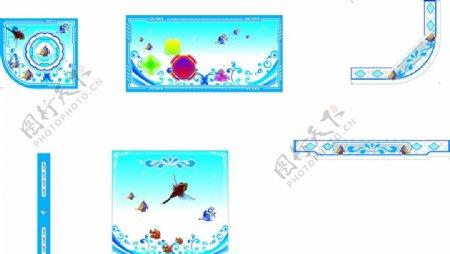 蓝色捕鱼彩板捕鱼彩图片