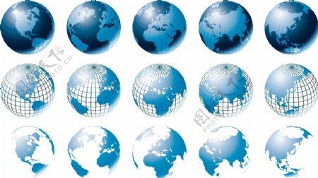 地球矢量图片