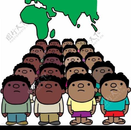 人口漫画图片
