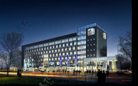 大型商业街效果图图片