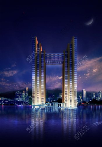 建筑大门效果图图片