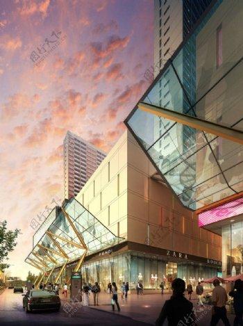 商业街环境设计图片