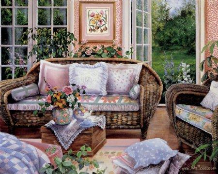 油画手绘家居图片