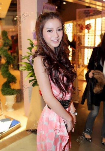 香港嫩模杨颖图片