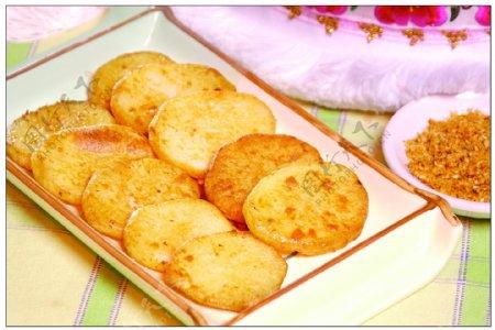 烤土豆片图片