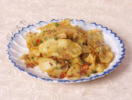 炸土豆片图片