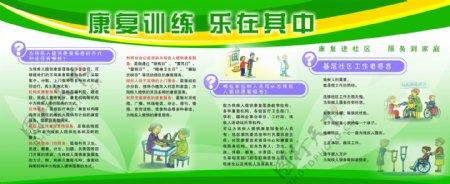 医院康复展板医院模板康复训练残疾人康复图片