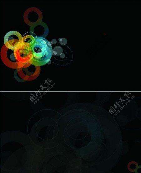 黑色梦幻名片图片