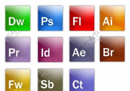 全套Adobe软件图标PSD分层文件图片