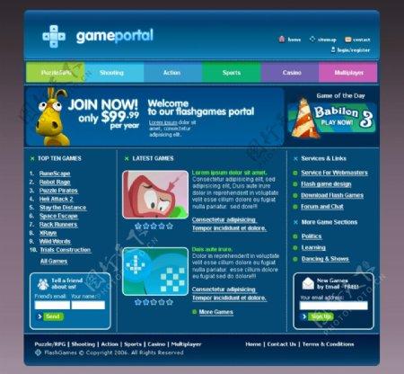国外卡通类型网页游戏页面