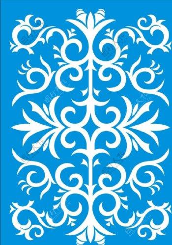 欧式花对称图案