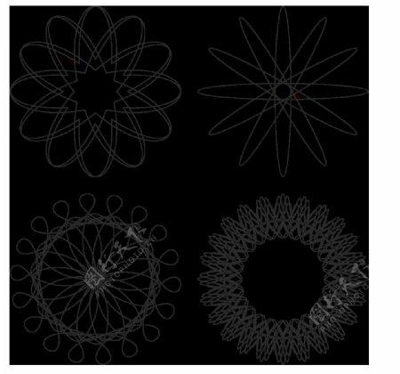 抽象对称图案花纹免抠png透明图层素材