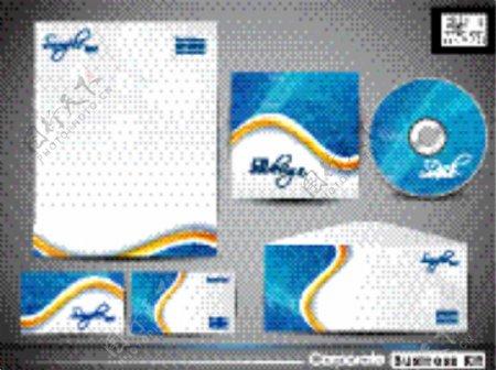 公司蓝色背景模板矢量素材