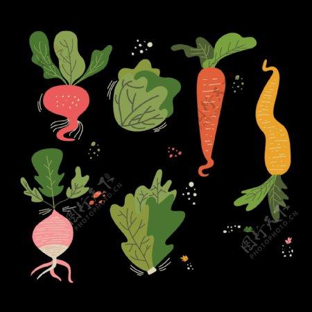 萝卜甜菜蔬菜免抠png透明图层素材