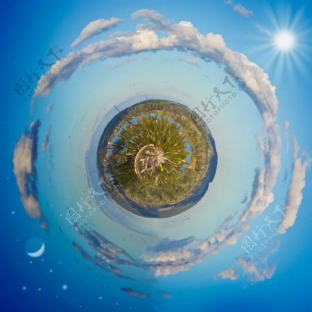 动感天空地球概念