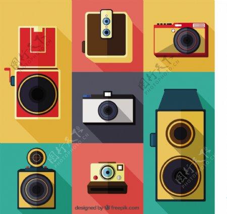 彩色复古复古相机