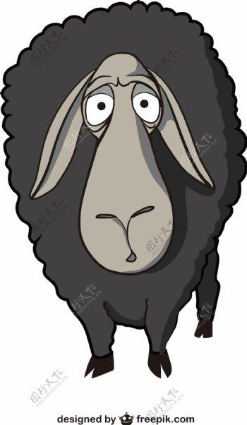 绵羊卡通矢量图