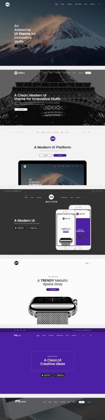 UI界面素材制作版式