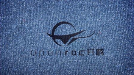 LOGO机样牛仔布印logo效果图