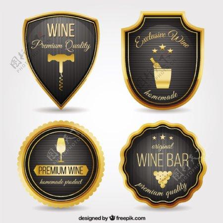 豪华的葡萄酒酒吧徽章