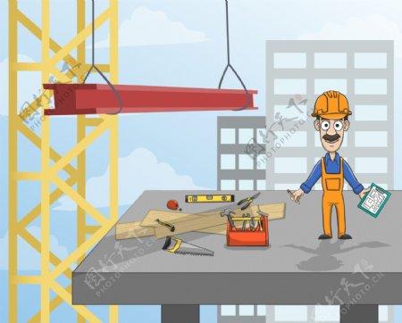 工地切砖工