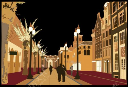 欧洲风格的街道