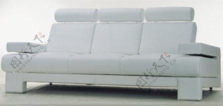 欧洲风格的白色简单的沙发