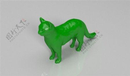 猫3D打印模型