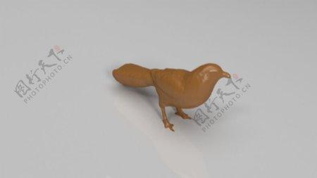 雕刻的鸟3D打印模型