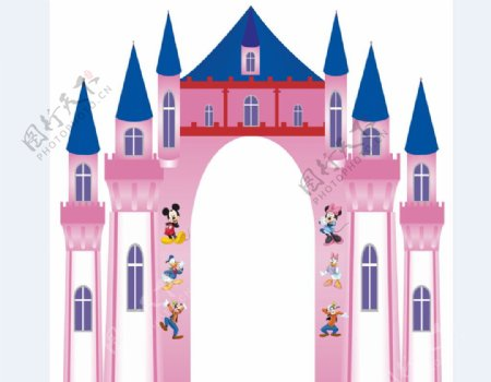 幼儿园门洞拱形门