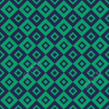 绿色和蓝色与正方形图案