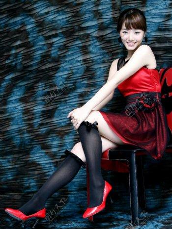 时尚美女明星写真图片