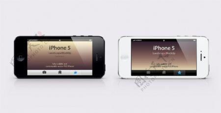 iphone5手机模版