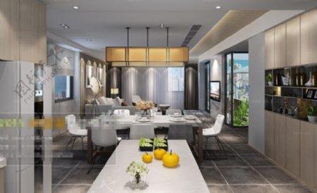 厨房效果图环境设计