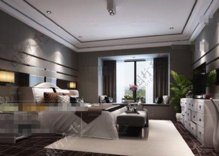 卧室空间3D模型素材下载