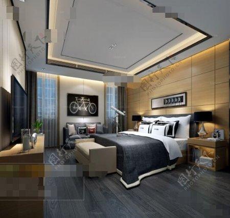 舒适卧室空间3D模型素材