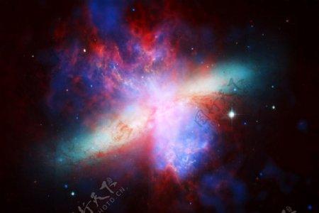 恒星星云发光壁纸网站背景图片