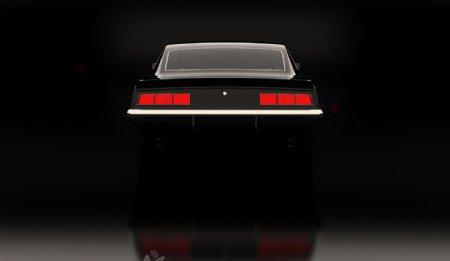 豪华轿车车尾灯图片