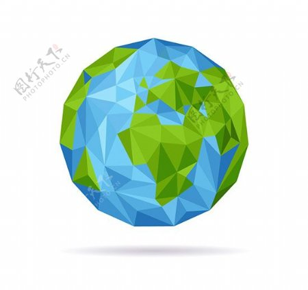 抽象蓝色地球矢量图片
