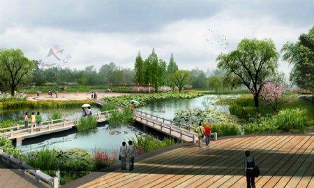 湖边美丽休闲环境设计图片